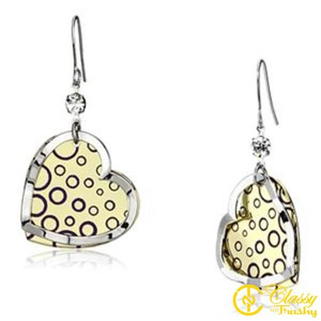 Classy Not Trashy® Heart Design Clear Crystal Iron Women's Earrings ()