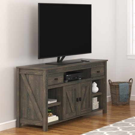 Ameriwood Home Farmington TV Stand for TVs up to 60u0022, Weathered Oak