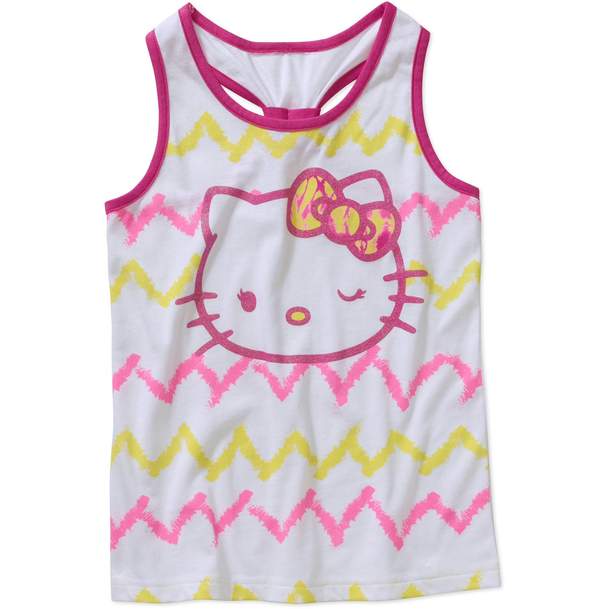 Hello Kitty Girls' Banded Racerback Graphic Tank