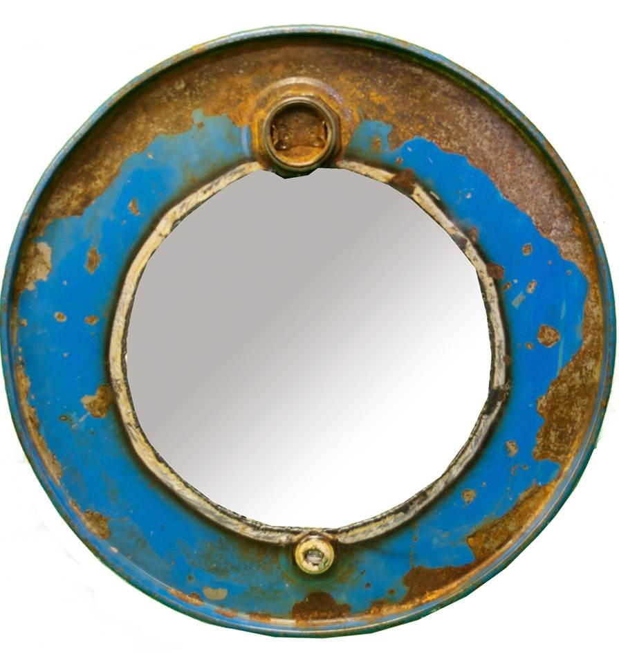 Steam Punk Barrel Mirror
