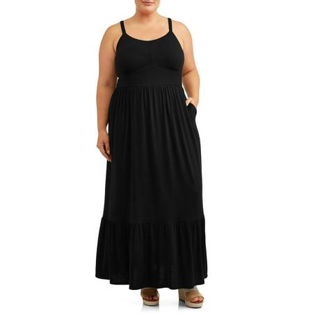 Women\'s Plus Size Solid Maxi Dress
