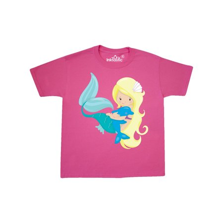 Mermaid with Dolphin Youth T-Shirt