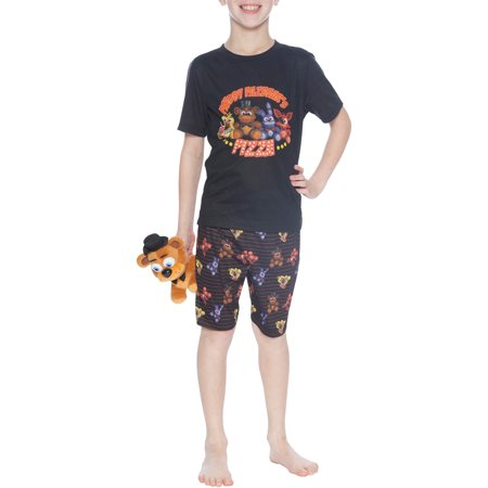 Boys' Five Nights at Freddy's 'Plushy Pizza' 2 Piece Pajama Sleep Set (Little Boy & Big Boy)](Cool Nights Pajamas)