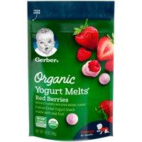 Gerber Yogurt Melts Organic Freeze-Dried Yogurt & Fruit Snacks, Red Berries, 1 oz.