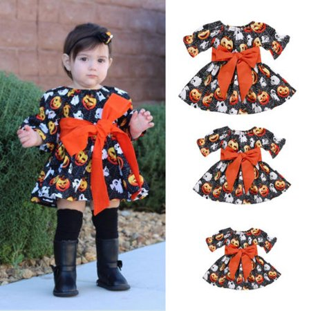 Baby Girls Halloween Pumpkin Costume Outfits One Piece Party Tutu - Baby Pumpkin Tutu Costume
