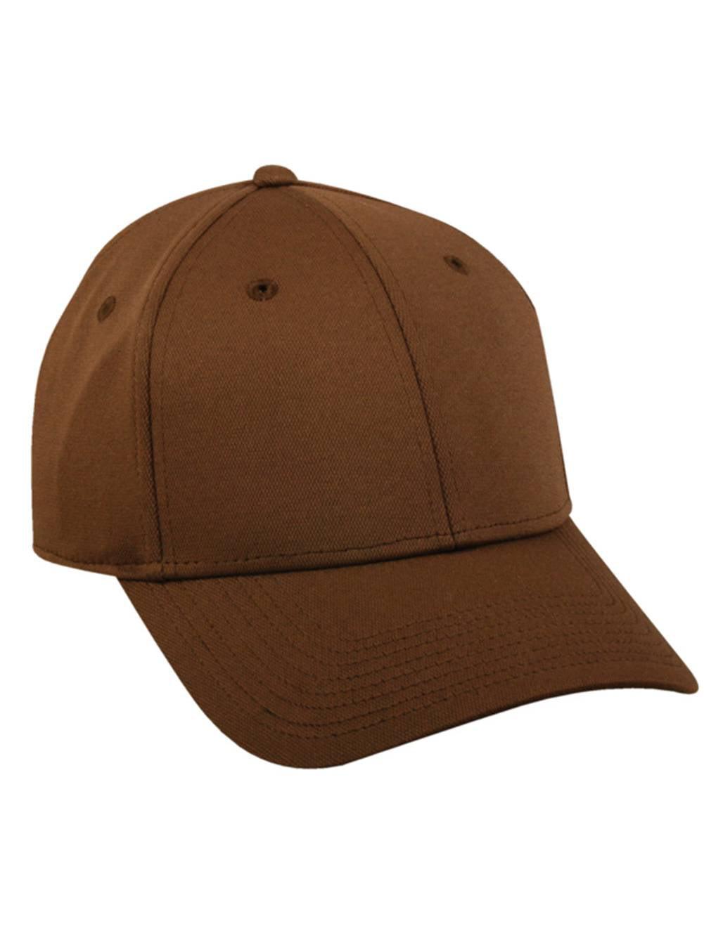 fdc4499b8a7 Flex Fitted Baseball Cap Hat - Brown