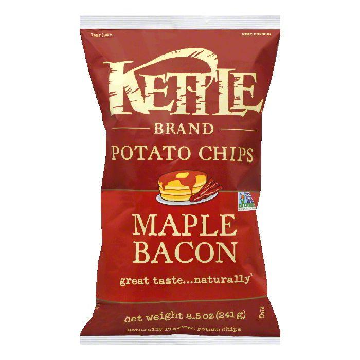 Kettle Maple Bacon Potato Chips, 8.5 Oz (Pack of 12)