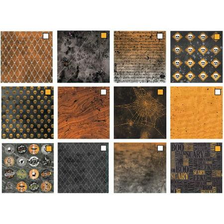 Darice Martha Stewart Crafts 6 X 6 Inches Halloween Paper Pad Black And Orange Prints