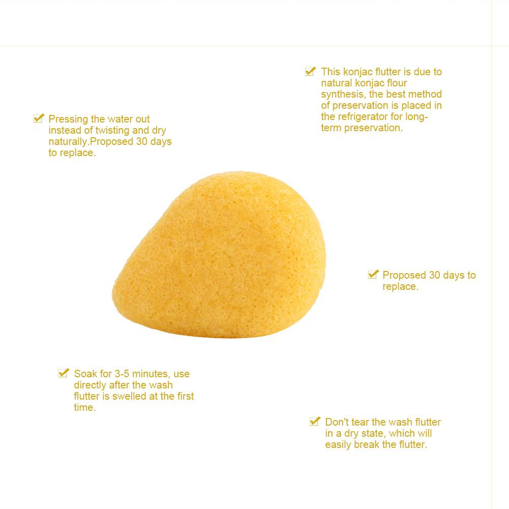 2pcs Water drop-shaped Konjac Wash Face Flutter Natural Facial Care Body Sponges Turmeric dermalogica soothing additive, 1 fluid ounce