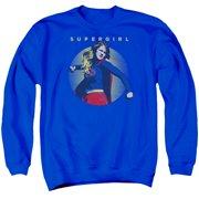 Supergirl Classic Hero Mens Crew Neck Sweatshirt