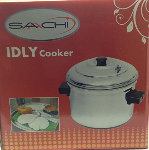 Saachi Stainless Steel Idly Maker Cooker Steamer with 6 T...