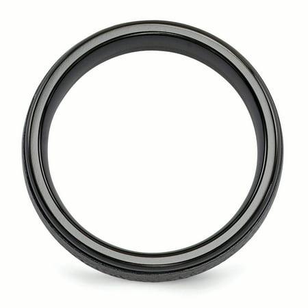 Edward Mirell Titanium Black Ti Hammered 7mm Band Size 8.5 - image 2 de 3