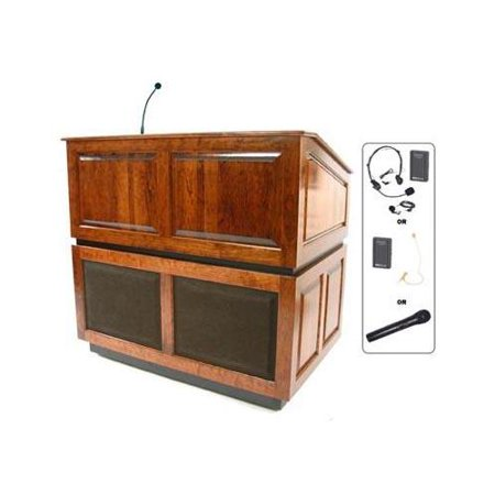 Exquisite Amplivox Wireless Ambassador Multimedia Lectern Recommended Item