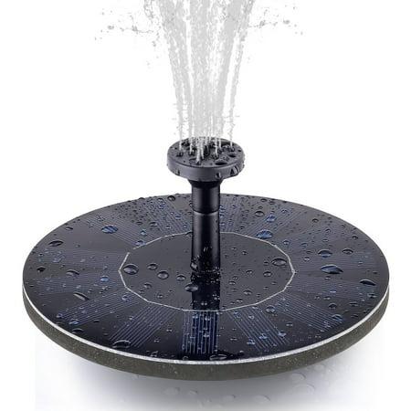FeelGlad Solar Bird Bath Water Fountain Pump, Free Standing 1.4W Floating Bird Bath Outdoor Fountain Pump for Garden and Patio