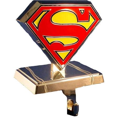 Kurt Adler Silver Superman Logo Stocking Hanger ()