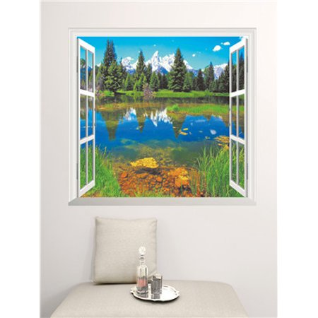 Home Decor Art Vinyl Fake Window New Mural Wall Decals Removable Stickers