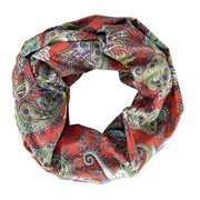 Peach Couture Summer Fashion Paisley Printed Infinity Loop Scarves