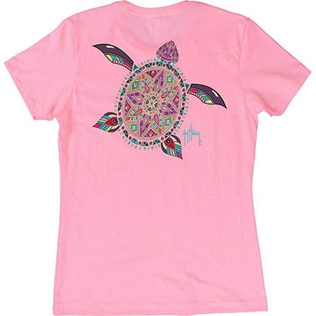- GUY HARVEY Turtle Beach Wms S/S T, Color: Light Pink (LTH41323-LPNK)