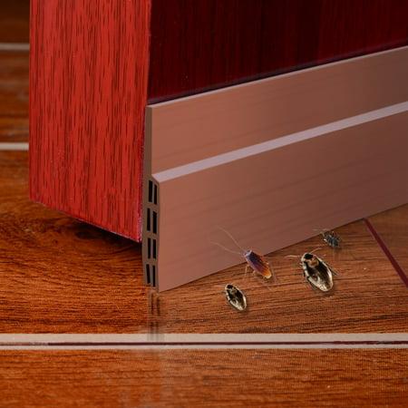 Weather Stripping Door Draft Stopper Door Bottom Seal Strip Energy & Money Saving in Hot Summer Save Air Conditioner Cost Keep Bugs&Noise Off Under Door Sweep 2