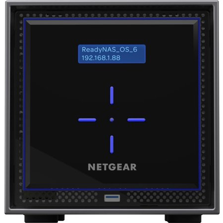 Netgear Insight Managed Smart Cloud Network Storage ReadyNAS 424 is a high performance network data storage solution for small businesses, workgroups, and branch offices of up to 40 employees.With the NETGEAR unique 5 levels of Data Protection, ReadyNAS 424 assures businesses industrys highest level of data security and reliability, while achieving a new price-performance benchmark in network storage for file serving and data backup.