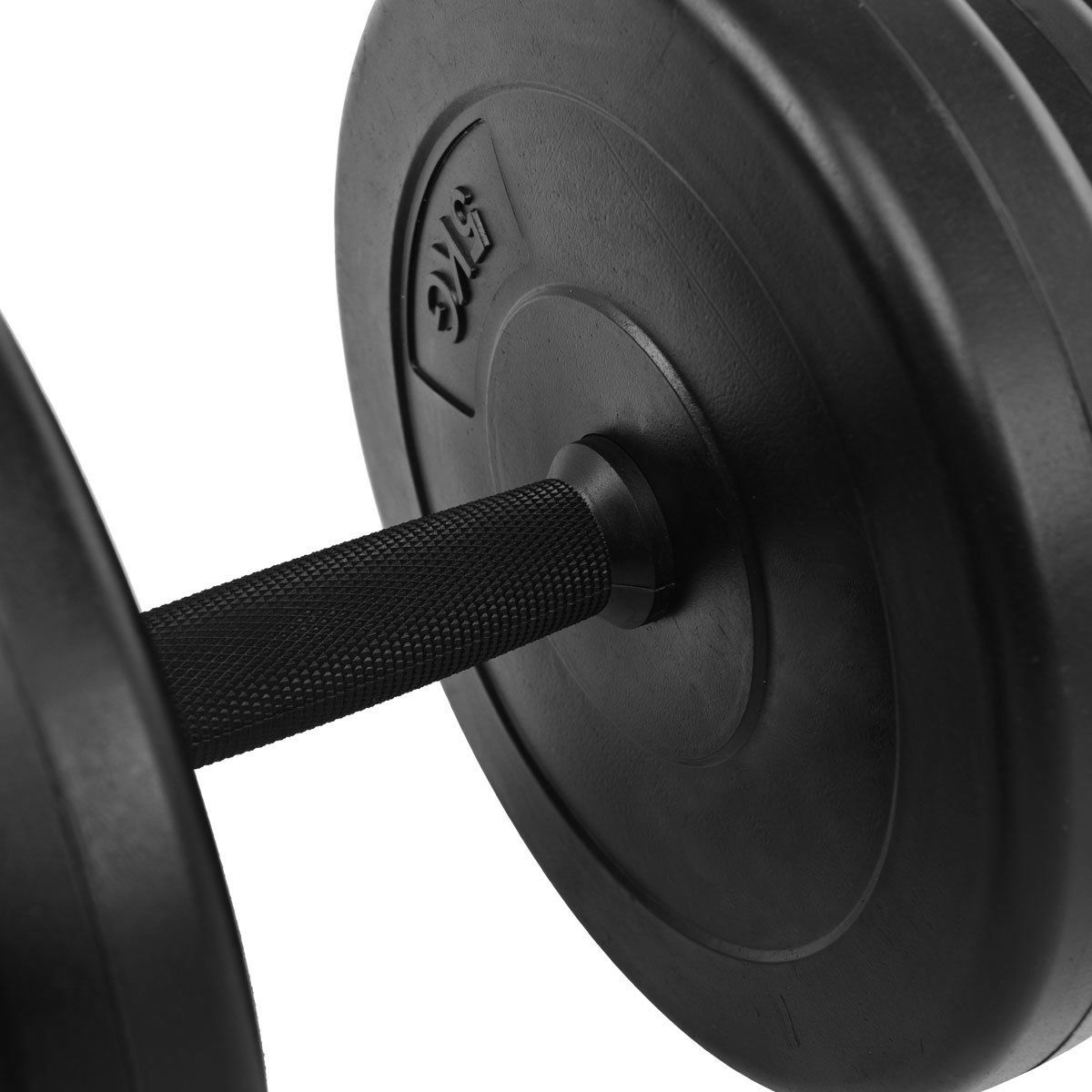 Weight Set 44 LB Dumbbell Adjustable Cap Gym Barbell Plates Body Workout Good
