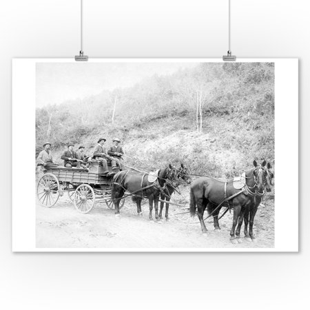 Wells Fargo Express Company Wagon And Guards Carrying Gold From Mine Photograph  9X12 Art Print  Wall Decor Travel Poster