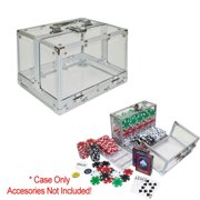 Trademark Poker 600pc Clear Acrylic Case, Holds 6 Chip Trays