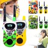 1-Pair Toy Walkie Talkies for Kids and Child-Parent, Great 2-Way Communication Toys Walkie Talkies for Boys & Girls -Toy Gifts Description:The toy Walkie Talkies will do help to improve child-parent relationship and are great 2-way communication toys for your kids.Specifications:Use: Toy Walkie TalkieType: Two Way RadioFrequency Band: Not Specified Range: 30-50mDimensions: 19cm x 6.5cm x 4cmStorage Channel: NONEWalkie Talkie Type: Walkie TalkieTalk Range: 30-50m Classification: IntercomAge Range: > 6 years oldColor: Green / YellowPackage Including:1 Set x Walkie Talkie (3*AA Batteries Not Included)Notes: Please keep the distance at least 2m, or you will hear some noise and this is the warning.