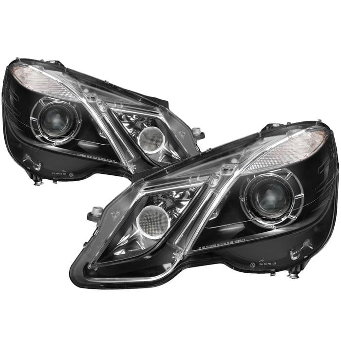 TD Projector Headlights (Black) - 10- 13 Mercedes Benz E63 AMG 4dr W212