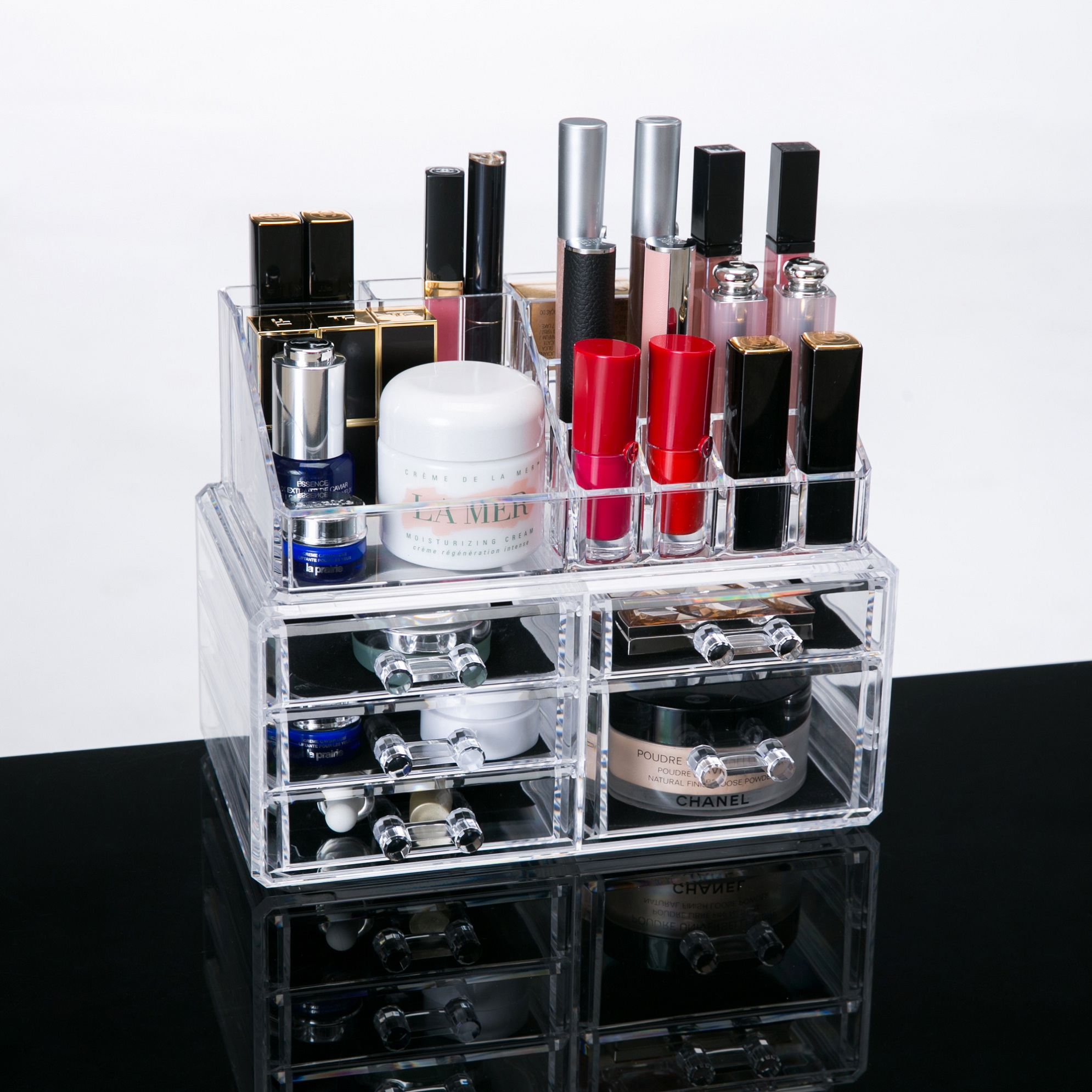 Clear Acrylic Cosmetic Storage Organizer, Boxes Makeup And Jewelry  Organizer Dispaly Box, 5 Drawers