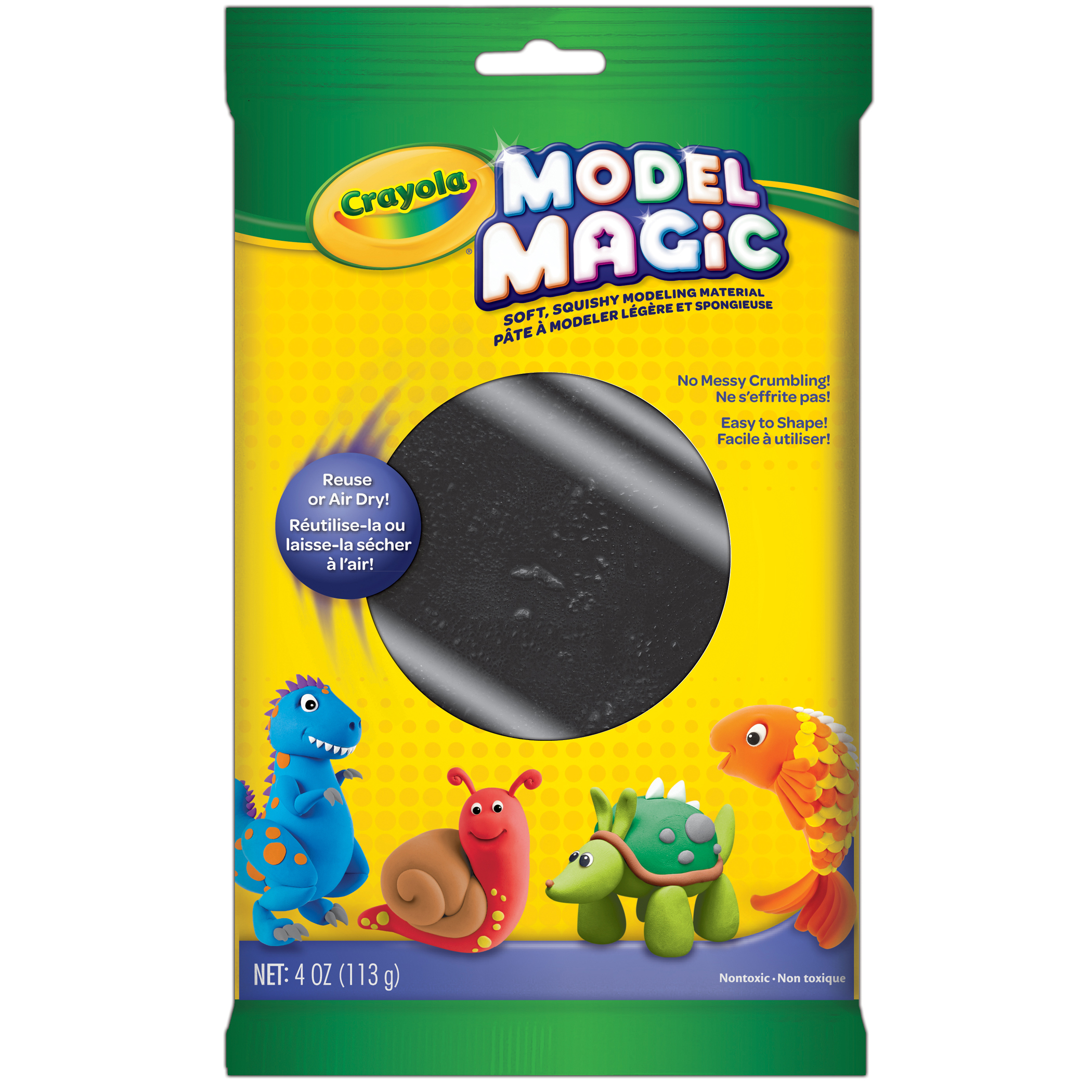 Crayola® Model Magic® Modeling Compound, Black, 4 oz packs, 6 packs