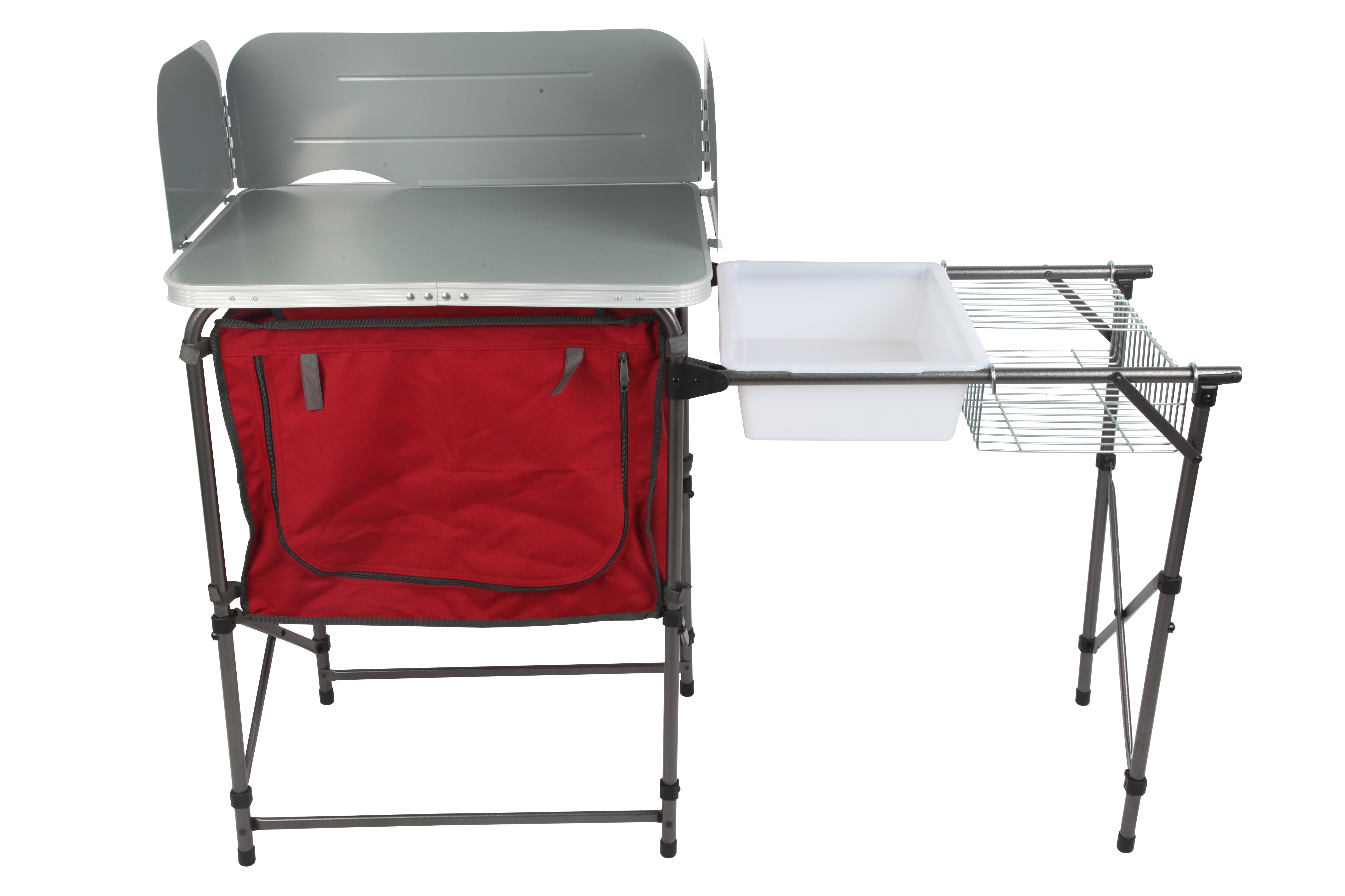 Ozark Trail Deluxe Camp Kitchen and Sink Table - Walmart.com