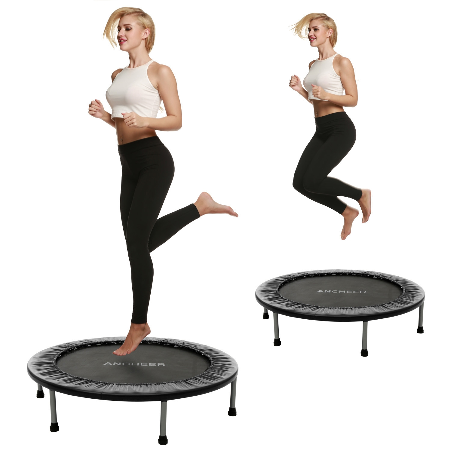 Foldable Trampoline 102cm with Safety Pad VAF