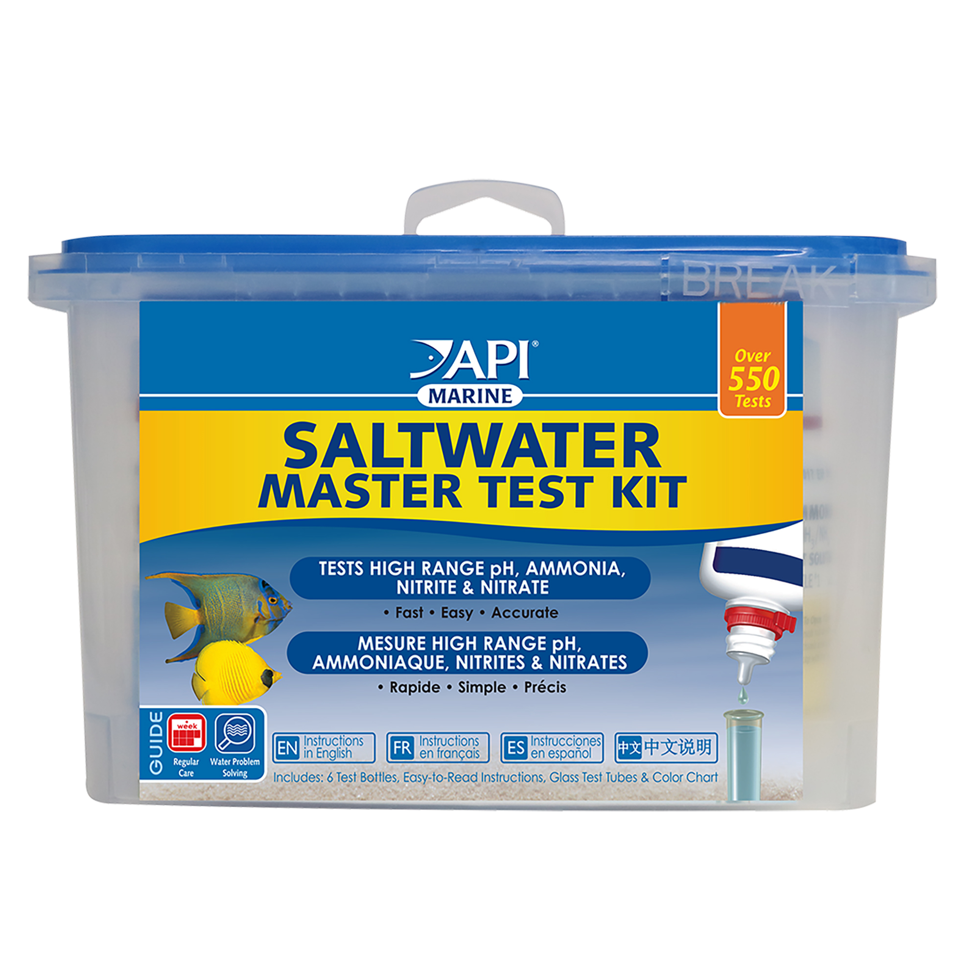 API Saltwater Master Test Kit, Aquarium Water Test Kit, 1-Count