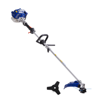 Badger 26 cc Full Crank, Gas 2-Cycle 2-in-1 Straight Shaft Grass Trimmer with Brush Cutter Blade and Bonus Harness