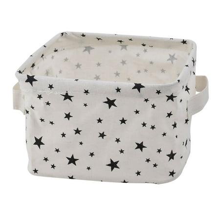 Household Desktop Fabric Star Pattern Makeup Sundries Storage Box Basket Closet