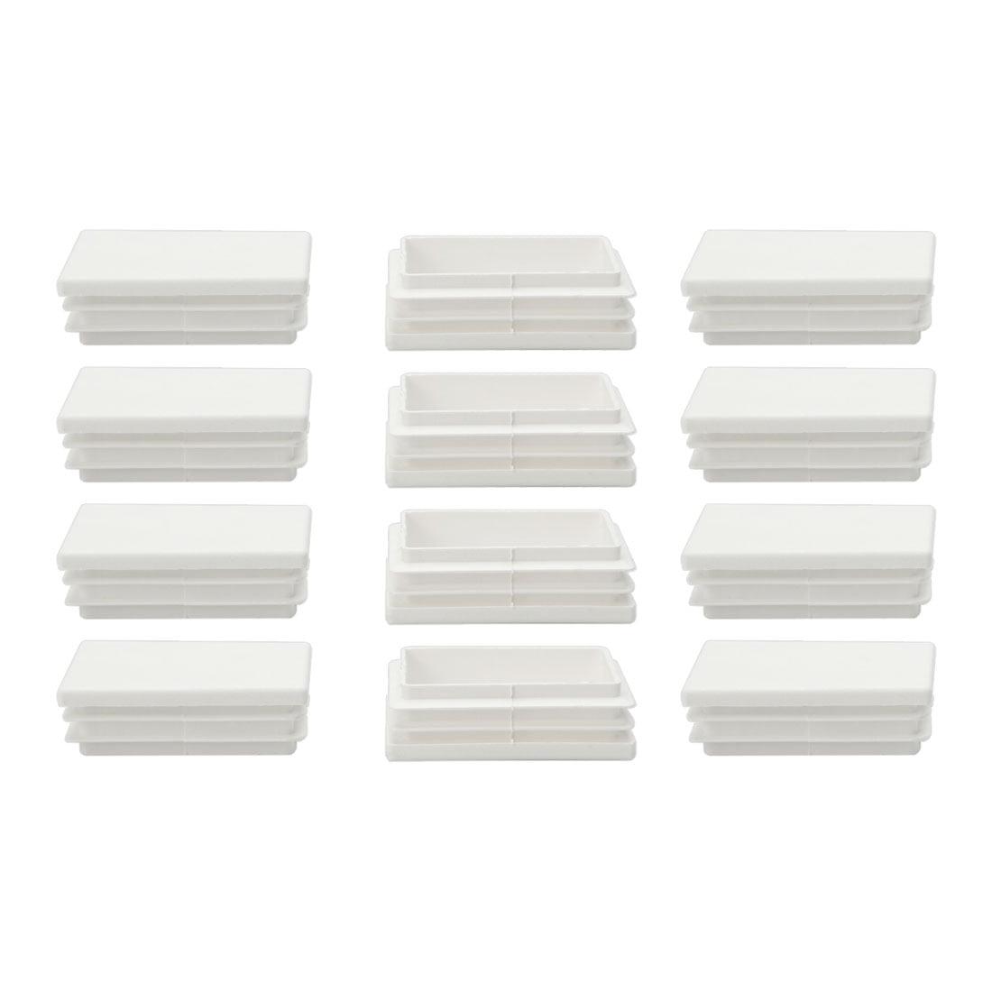 12pcs 40 x 60mm Plastic Rectangle Ribbed Tube Inserts End Cover Cap Table Feet - image 7 de 7