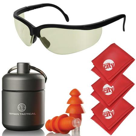 Circuit Spec (titan tactical eyes + ear protection kit w/ 29nrr reusable shooting ear plugs + mil-spec tinted range ballistic glasses)