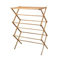Heavy Duty Clothes Drying Rack - Bamboo Wooden Clothes Rack
