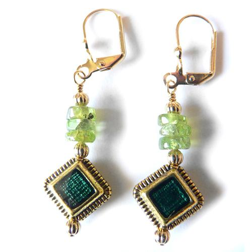 Palmtree Gems Savannah' Peridot Dangle Earrings