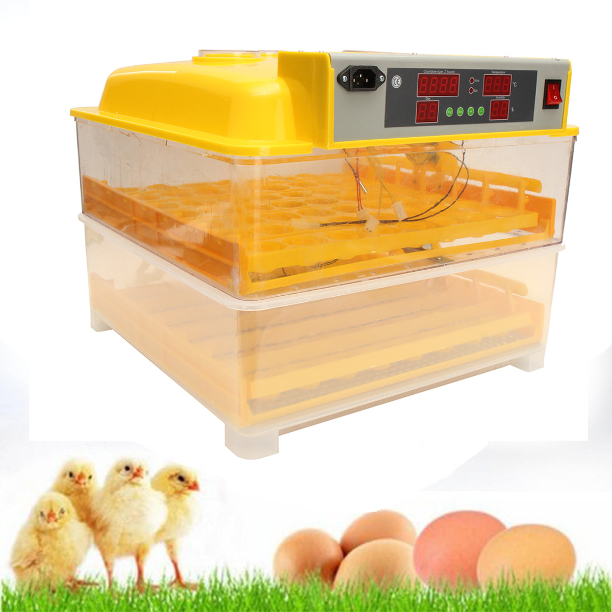 Automatic 112 eggs Digital Clear Egg Incubator Hatcher Tu...