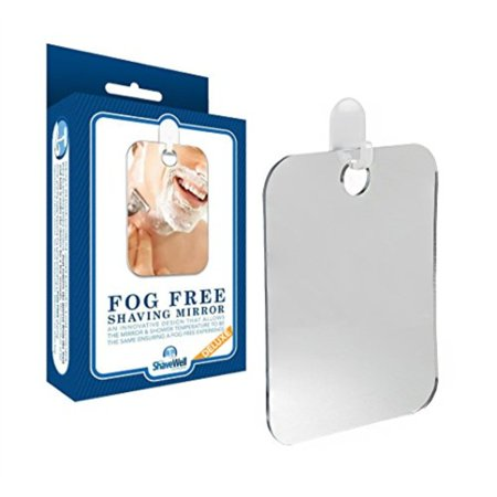 Fogless Suction Cup Mirror - Deluxe Shave Well Fog-free Shower Mirror - 33% Larger Than the Original Shave Well Mirror