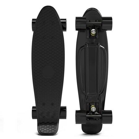 Penny Style Cruiser 27 Inch Board Plastic Retro Mini Skateboard Complete  Black