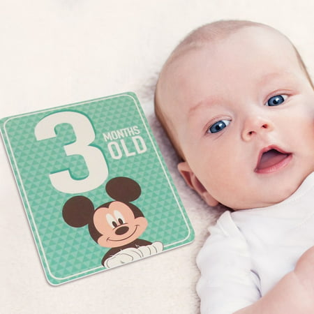 Disney Mickey Mouse Milestone Photo Sharing Cards Gift Set, Baby Boys, Age 0-12M for $<!---->