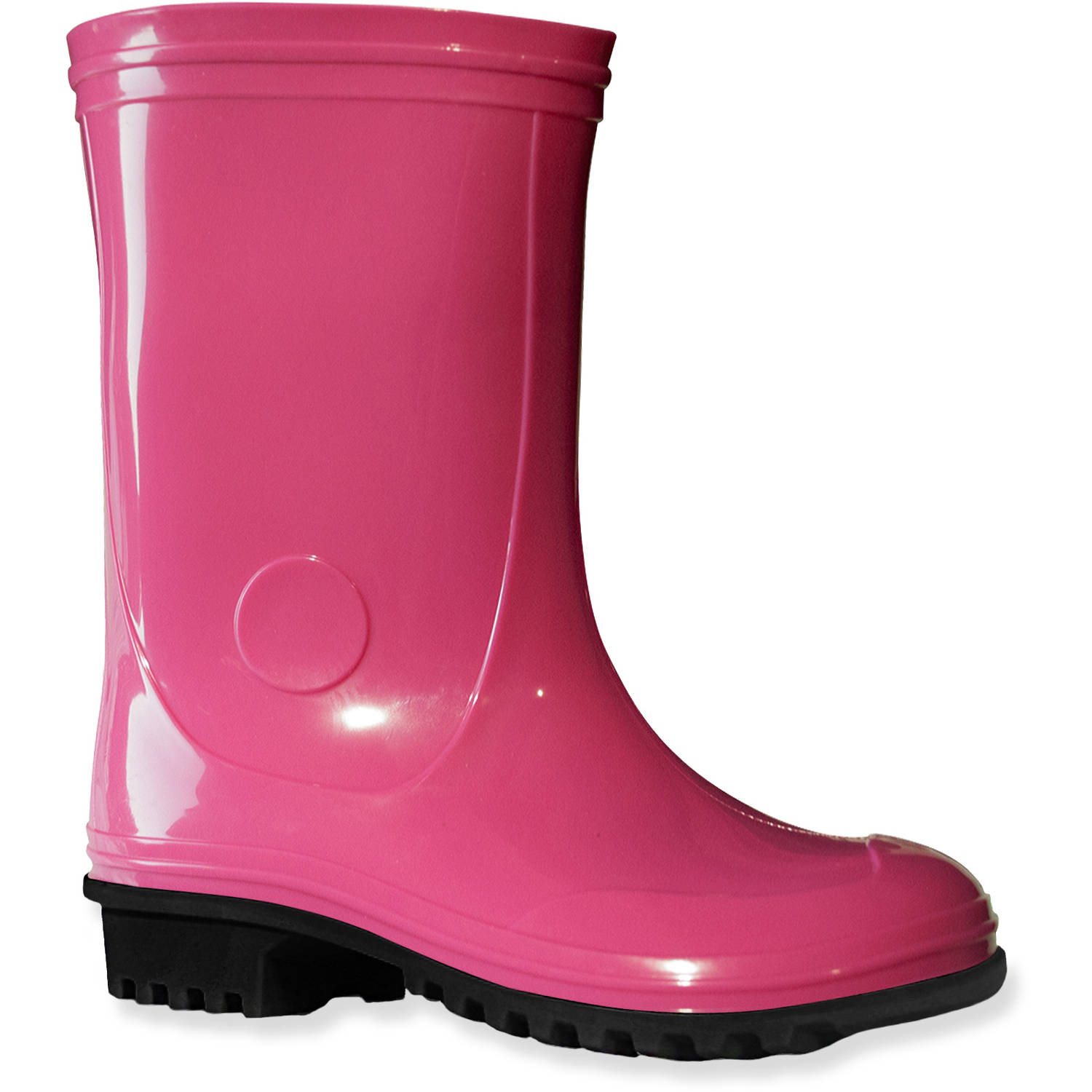 Girls' Basic Colorblock Rain Boot - Walmart.com