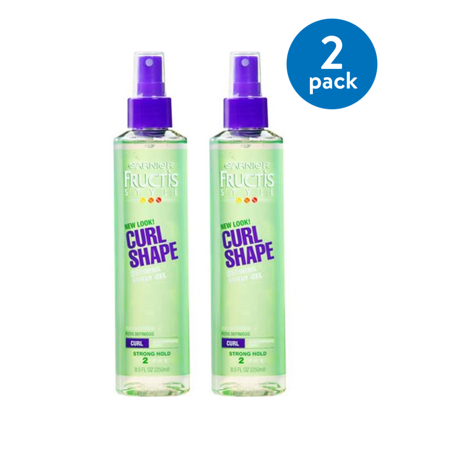 (2 pack) Garnier Fructis Style Curl Shape Defining Spray Gel 8.5 FL OZ (Black Silicon Gel)