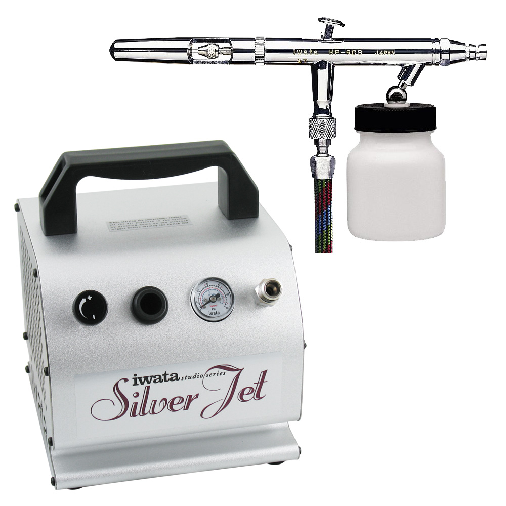 IWATA Eclipse HP-BCS Airbrushing System with Silver Jet A...