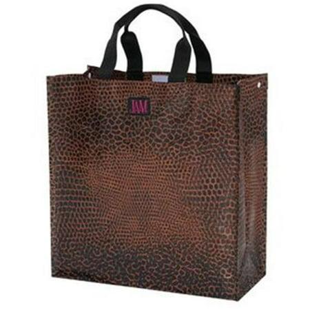 Joann Marrie Designs P2sbsnk Polypropylene Snake Skin Shopping Bag   Brown