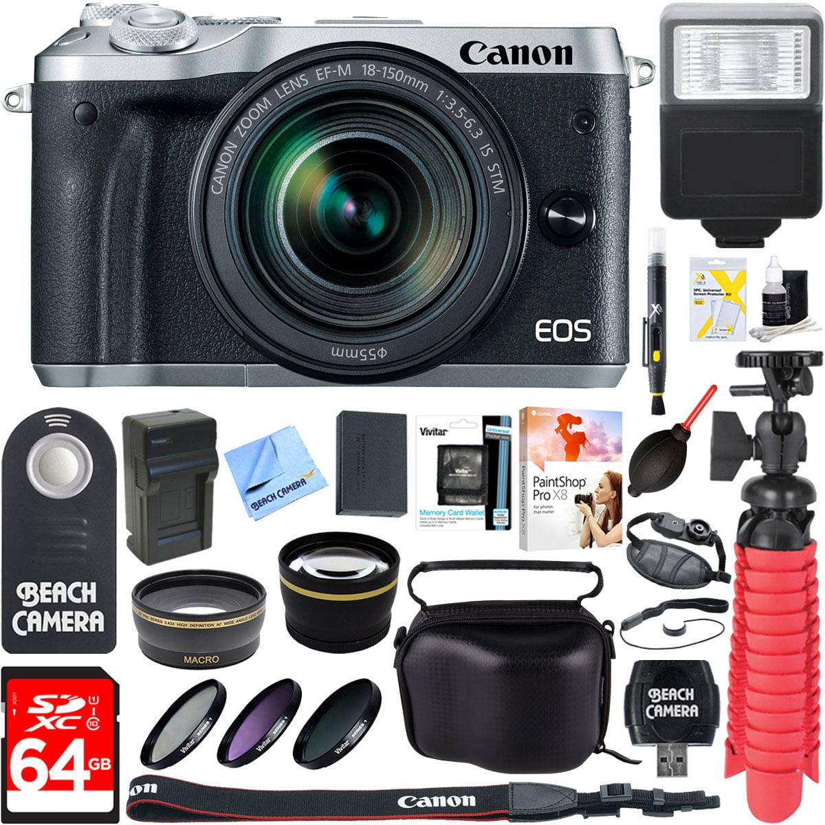 Canon M6 EOS 24.2MP Mirrorless Digital Camera with EF-M 1...