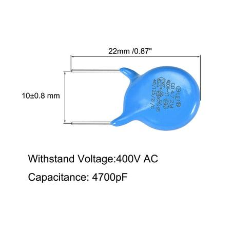 Ceramic Disc Safety Capacitors 4700pF 400V AC Y1 Series L8 20pcs - image 3 de 5